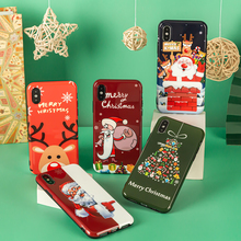 Christmas Cartoons tree elk silicone Case for iPhone11 Pro M