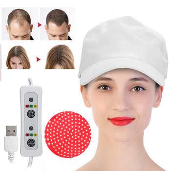 94 108pcs Lamp Beads Hair Growth Hat laser helmet Oil Control Hair Loss Treatment Therapy Instruments Hair Regrowth Cap White tanie i dobre opinie CN (pochodzenie) 1pcs Produkt do wypadania włosów 108pcs 94pcs 5-12W 630nm-660nm Hair Growth Treatment Hat Hair Regrowth Hat