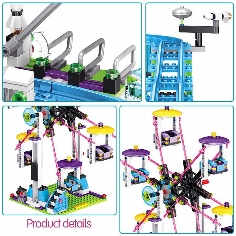 Gạch Tương Thích Legoings Bạn Bè Công Viên Giải Trí Khối Tàu Lượn Hình Đồ Chơi Mô Hình Hobbie Trẻ Em Bé Gái