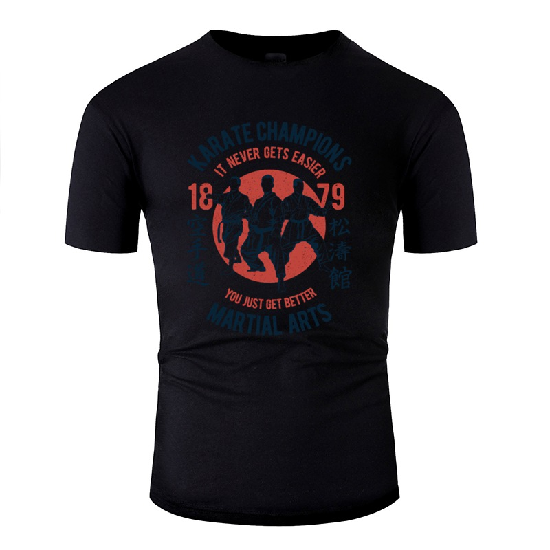 >The New <font><b>Outfit</b></font> Karate <font><b>Champions</b></font> Men T Shirt 2020 O Neck Tee Shirt For Men Solid Color Oversize S-5xl Top Quality