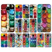 FHNBLJ-paleta de colores para juego de acuarelas, funda de teléfono para huawei mate 10 20 lite pro X Honor play Y6 5 7 9 prime 2018 2019