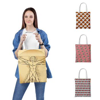 Fashion Ladies Shoulder Bag 3D Print Tote Bag For Women Casual Totes Foldable Shopping Bag Canvas bag Casual daily bag casual women s tote bag with leopard print and canvas design