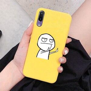 Милые Желтые Матовые чехлы для Huawei Honor 9 10 20 Lite 8X 8A 9X 7A 10i 20i Play Y5 Y6 Y7 Pro Y9 Prime 2018 2019 чехол из ТПУ