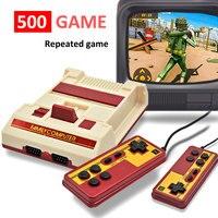 Console per videogiochi a 8 Bit integrata nel 500 giochi classici famiglia Computer TV gioco Consola supporto cartuccia di gioco per FC Retro Gaming