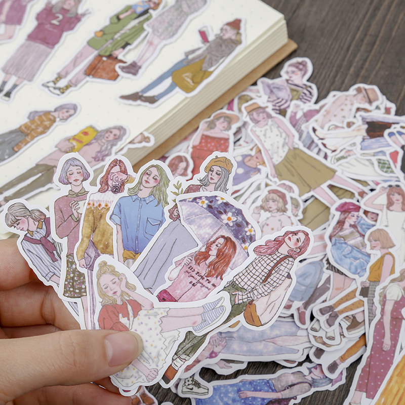 ZFPARTY  100pcs Girls Paper Stickers For Scrapbooking Happy Planner/Card Making/Journaling Project
