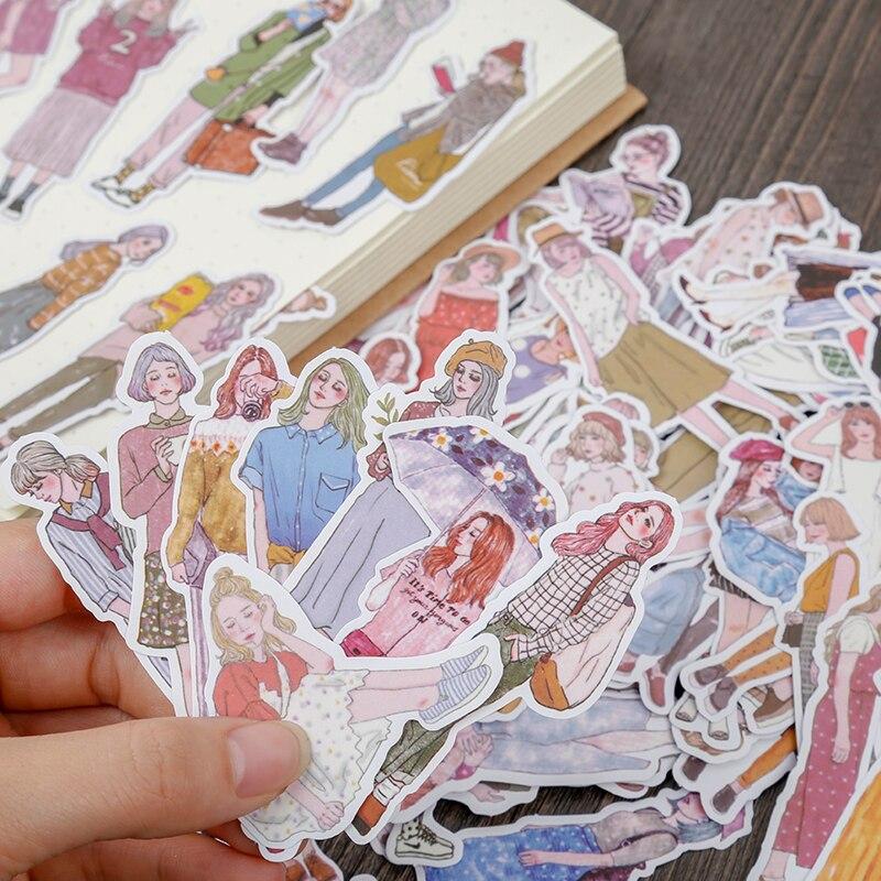 ZFPARTY 100 шт. бумажные наклейки для девочек для скрапбукинга Happy Planner/Создание карт/журналистский проект