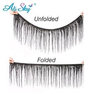 Image 5 - Alisky mechones de pelo malayo ondulado, mechones 100% cabello humano Remy, rizo negro Natural, 1/3/4 unidades