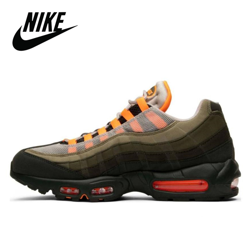 Nike Air Max 95 Original Running Shoes for Men OG Neutral Olive Total Orange Breathable Outdoor Sports Jogging Comfortable|Running Shoes| - AliExpress