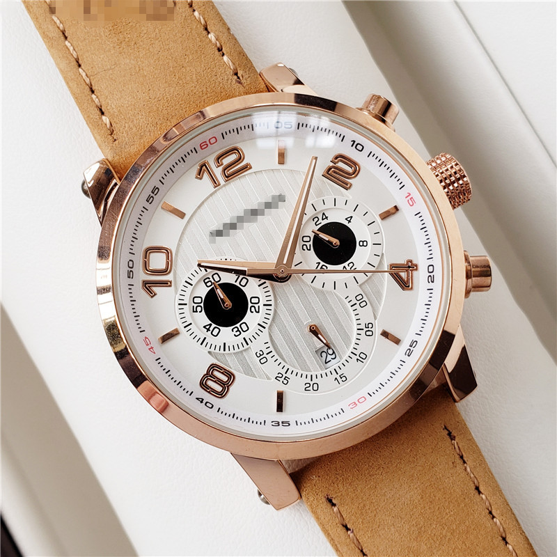 Mont Luxury Brand Automatic Watch Watches DZ Blanc Men Quartz Wristwatches Male Genuine Leather Strap Clock Men's Fashion Gifts