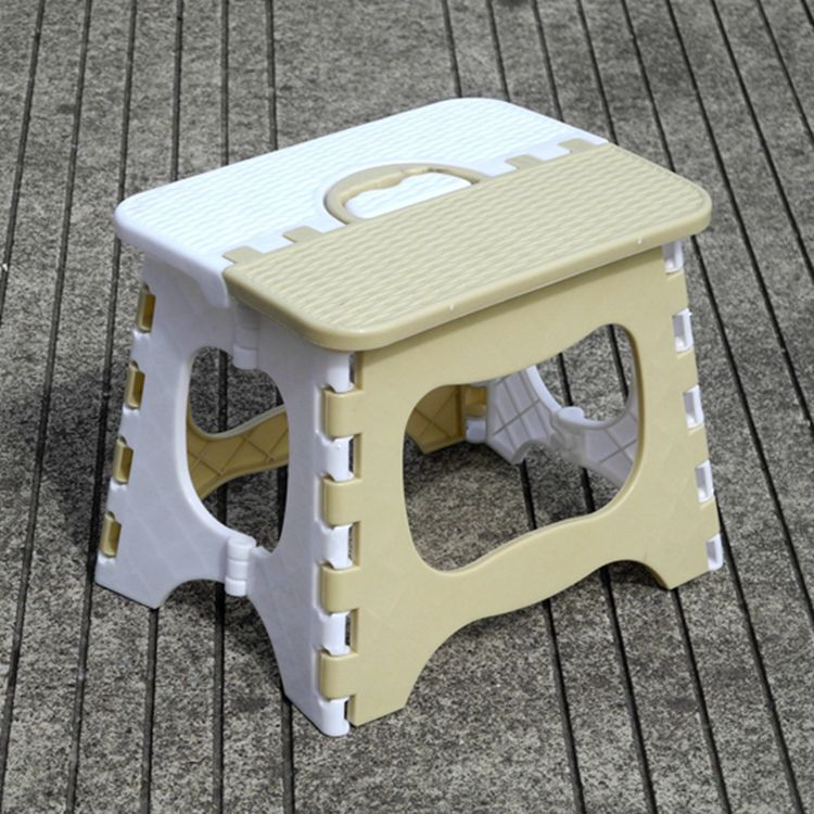 Plastic Folding Stool Thicken Portable Outdoor Household Kids Modern Simple Style 2 Colors High Quality Plastic Furniture Stools