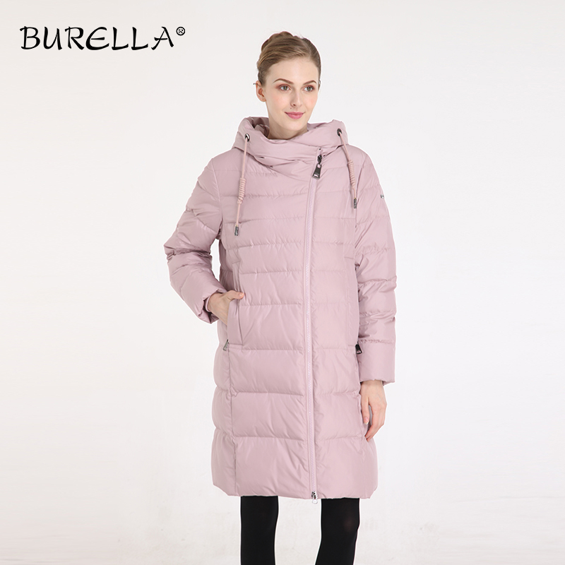 BURELLA 2019  Women's Winter Jacket  Solid Cotton Loose Down Jacket  Hooded Knee-length Thick Coat  Female Jacket  VN-217MW
