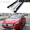 Беговая плата подходит для Mer-cedes Be-nz GLA X156 серии GLA200 2014-2019 алюминиевые боковые Nerf шаг бар автомобиля педаль протектор