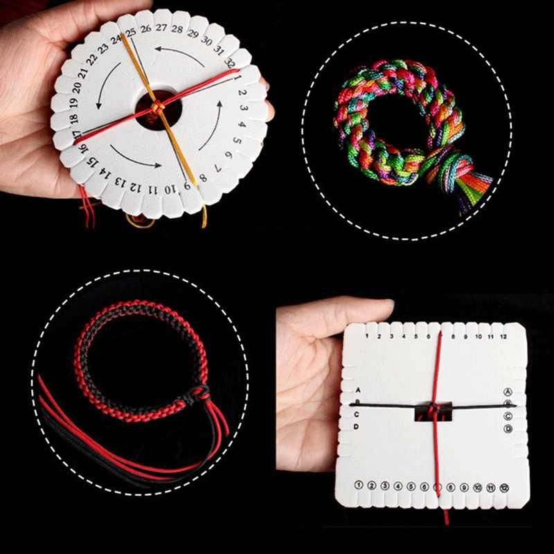 10cm Kumihimo Beading Cord Disc Round Disk Braiding Plate DIY Braided EVA White Circular Knitting Machine Tool