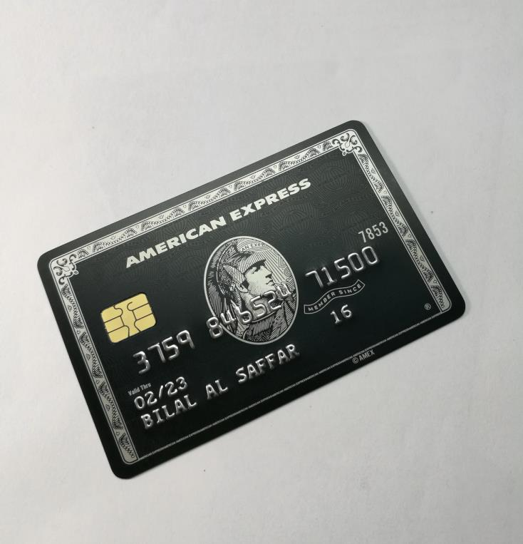 Metal card black card and production American express gift card