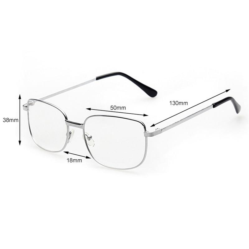 Women Men Elderly Presbyopic Eye Glasses  Gold Metal Reading Glasses +1.0 1.5 2.0 2.5 3.0 3.5 4.0 Diopter Eyewear