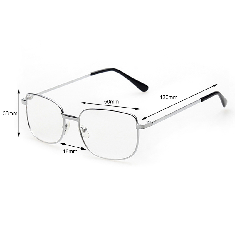Women Men Elderly Presbyopic Eye Glasses  Gold Silver Metal Reading Glasses +1.0 1.5 2.0 2.5 3.0 3.5 4.0 Diopter Eyewear