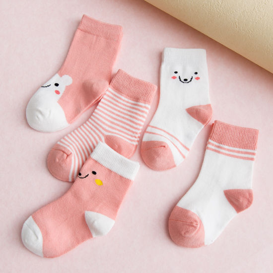 Five Pairs Of Dress CHILDREN'S Socks Cotton Socks Men And Women Baby Tube Warm Spring And Autumn Winter Style Newborn Infant Big