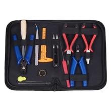 16 unid/set DIY Kit de herramientas para hacer joyería alicates de joyería rebordear alambre conjunto herramientas de reparación bolsa DIY artesanía