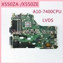 X550ZA 마더 보드 REV2.0 ASUS X550ZA A10 7400CPU 노트북 마더 보드 X550 X550Z X550ZE 노트북 메인 보드 완전 테스트 됨