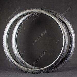Image 4 - Promotion High TG Dimple Golf Carbon Road Rims T700C Tubular/Clincher Road Wheels 50mm Depth U Shape