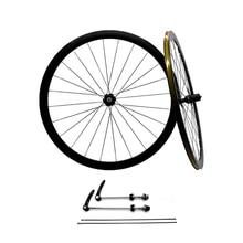 Aluminiowe 2 uszczelnione łożysko 40mm felgi koła rowerowe części Clincher 700C szosowe koła rowerowe