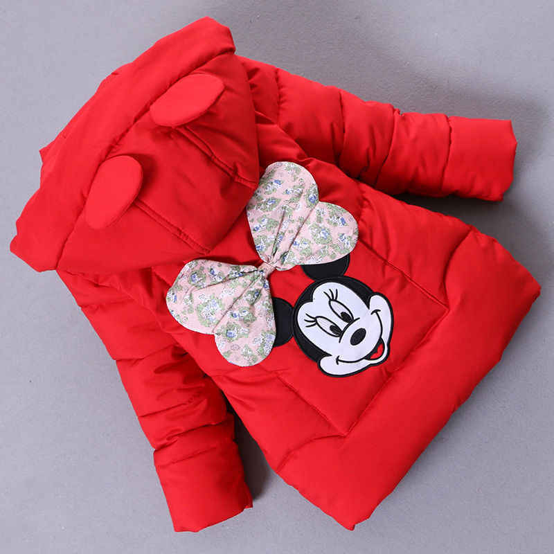 Girls Parkas Winter Children Fashion Cotton Cartoon Thick Down Coats For Kids Girl Casual Hooded Outerwear Snowsuit Outfits 1-7Y