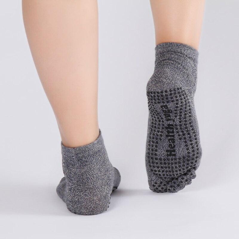 Doubling Cotton Men's Socks Male Five Fingers Non Slip Skid Resistance Dots Pattern Printing Boat Men's Toe Socks