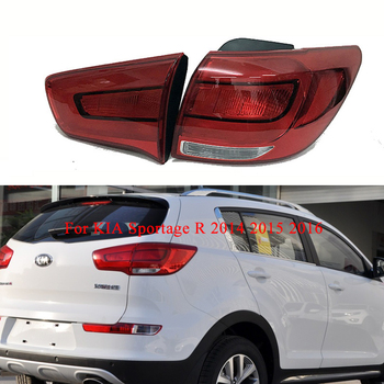 Left/Right Rear Tail lights For KIA Sportage R 2014 2015 2016 Tail Stop Turn Signal lamp Rear Fog Brake Light Warning