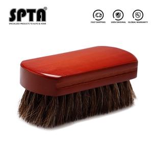 Image 5 - SPTA فرشاة تنظيف السيارة الداخلية ، شعيرات ، مقبض خشبي ، أدوات تنظيف جلدية ، تنجيد تلقائي