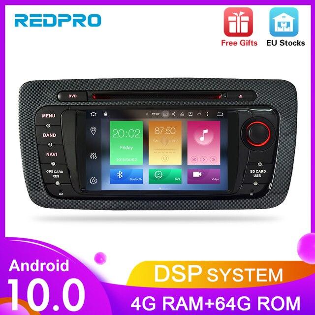 """7 """"HD أندرويد 10.0 مشغل أسطوانات للسيارة لمقعد إيبيزا 2009 2010 2011 2012 راديو تلقائي FM RDS ستيريو واي فاي لتحديد المواقع والملاحة الصوت والفيديو سماعة الرأس"""