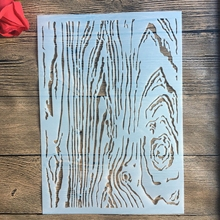 A4 29 * 21cm Wood grain DIY Stencils Wall Painting Scrapbook Coloring Embossing Album Decorative Paper Card Template,fabric.wall