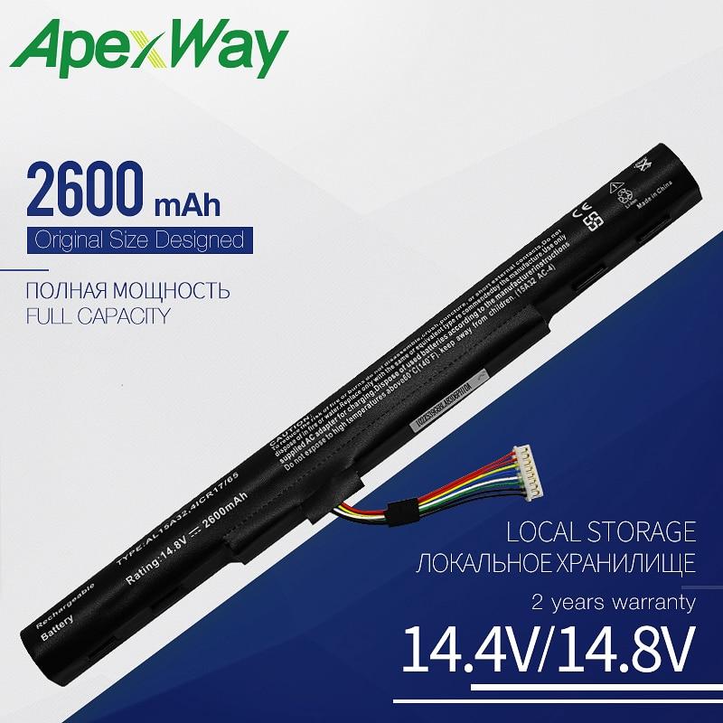 Apexway 14.8V Al15a32 Laptop Battery For Acer Aspire E5-522 E5-522G E5-532 E5-532T E5-573 KT.00403.025 KT.00403.034 KT.004B3.025