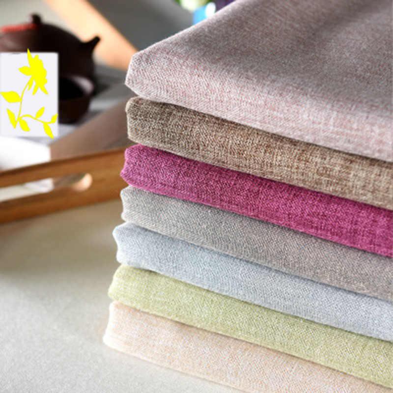 Di colore solido tovaglia in cotone e lino semplice nappa piazza tavolino tavolo da pranzo di casa fresco giardino tovaglia decorazione