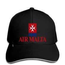 Baseball cap Fashion air malta airline retro vintage snapback hat Peaked(China)