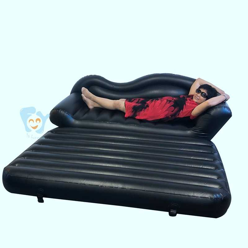 5 In 1 Feak Leather Home Garden Inflatable Double Person Sofa Bed