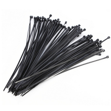 100pcs Self-Locking Plastic Nylon Wire Cable Zip Ties Black Fasten Loop 2.5mm Or 3mm