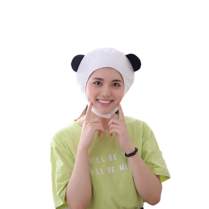 Panda Hat Cute Cartoon Toy Headdress Kawaii Funny Hat Toy Children Plush Birthday Gift Toy Hat Girl Halloween Hat