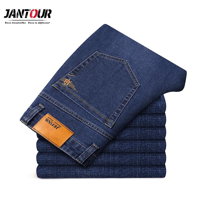 Джинсы мужские хлопковые, брюки из денима известного бренда, мягкие модные аксессуары, большие размеры 40 42 44 46, Осень-зима