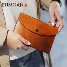 EUMOAN Simple crossbody bag, female summer Japanese art small fresh leather envelope bag