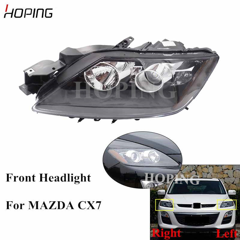 Hoping Auto Front Headlight Headlamp For MAZDA CX7 CX-7 2008 2009 2010 2011 2012 2013 2014 Replacement Head Light Head Lamp