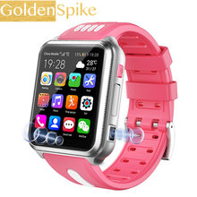 GOLDENSPIKE 4G Children Smart Watch Camera Lighting Touch Screen GPS SOS Call LBS Tracking Location Finder Kids Baby Smart Watch(China)