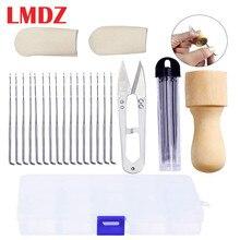 Needle-Felting-Kit Felting-Needles Wood-Handle LMDZ with Scissors Finger Cots Stitch