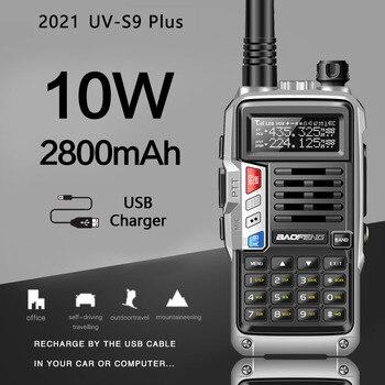 BaoFeng UV-S9 בתוספת 10W גבוהה כוח חזיר חובבי להקה כפולה כף יד שתי דרך רדיו ווקי טוקי עם 2800mAh סוללה