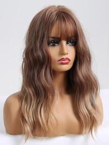 Wigs Gray Air-Bang Synthetic-Hair Tiny Lana Long Ombre Women Hari High-Temperature-Fiber