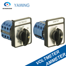 купить Cam Switch Ammeter / Voltmeter 3 Poles 20A 4/7 Positions Universal Changeover Rotary Switches Interruptor CA10 B9 LW26 YMW26 по цене 620.38 рублей