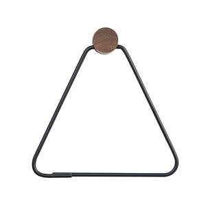 Скандинавские креативные черные кольца для полотенец, держатель для туалетной бумаги, треугольная Золотая полка для ванной комнаты, настен...