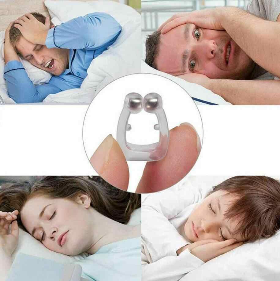 Silicone magnétique Anti ronflement respirer sommeil facile pince-nez bouchon Anti ronflement aide dilatateurs nasaux nuit dispositif sommeil apnée garde