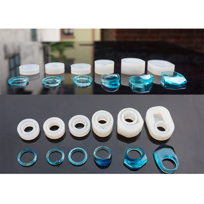 Assorted DIY Silicone Ring Molds For Resin Jewelry Making Craft Epoxy Molds