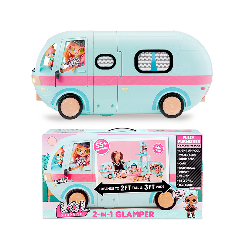 Original Lol Surprise Dolls Toys Set 2-in-1 Glamper Girl Lols Omg Sisters Doll Diy Play House Kids Toys For Girls Birthday Gifts