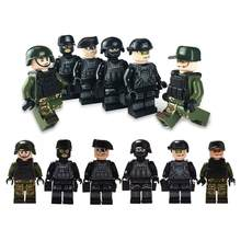 NEW 12pcs Military Special Forces Soldiers Bricks Figures Guns Weapons Compatible Legoings Armed SWAT Building Blocks Kids Toys(China)